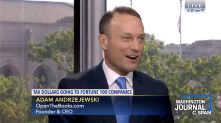 Video_-_CSPAN_Washington_Journal_Federal_Funding_of_Fortune_100_Companies_Interview